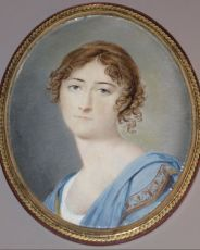 Portrait miniature of a young lady in Empire gown by Johannes Sr Hari