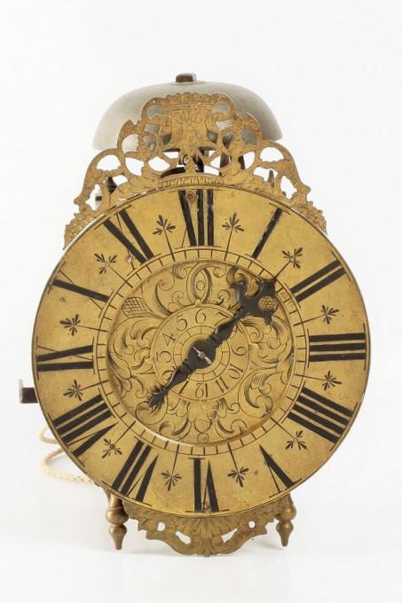 An engraved French alarm lantern timepiece, circa 1740 by Unknown Artist