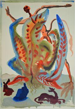 Divina commedia purgatorio 23 by Salvador Dali