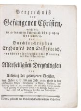 Redeeming Austrian Christian captives from Muslim prisons