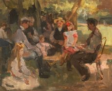 Card Players in the Bois de Boulogne by Isaac Israels