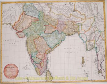 India antique map  by  Mannert