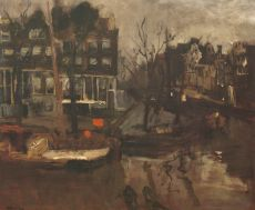 The Brouwersgracht near the Korte Prinsengracht, Amsterdam by George Hendrik Breitner