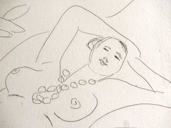 Etching - 'Odalisque couchée' by Henri Matisse