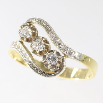 Elegant Belle Epoque diamond ring by Unknown Artist