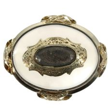 Antique brooch with chalcedony by Unknown Artist