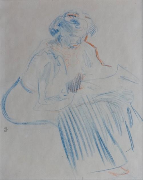 Seated woman by Jan Sluijters