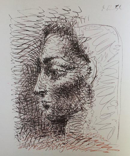 A wonderful lithograph 'portrait of Jacqueline' by Pablo Picasso by Pablo Picasso