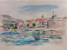 Boats City Coast Korcula Croatia by Iam Anna