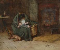 Bed time by Bernardus Johannes Blommers