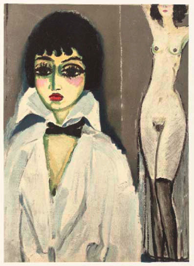 Marcelle Leoni with nude by Kees van Dongen