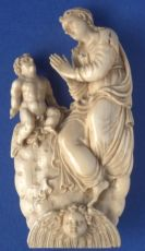 Ivory sculpture of the Mother of God with the Infant Christ by Unknown Artist