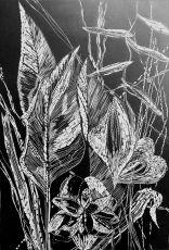 Black leaves VI by Magdalena Chmielek