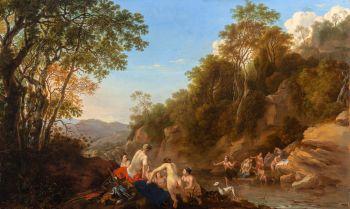 Diana Discovering the Pregnancy of Callisto by Dirck van der Lisse