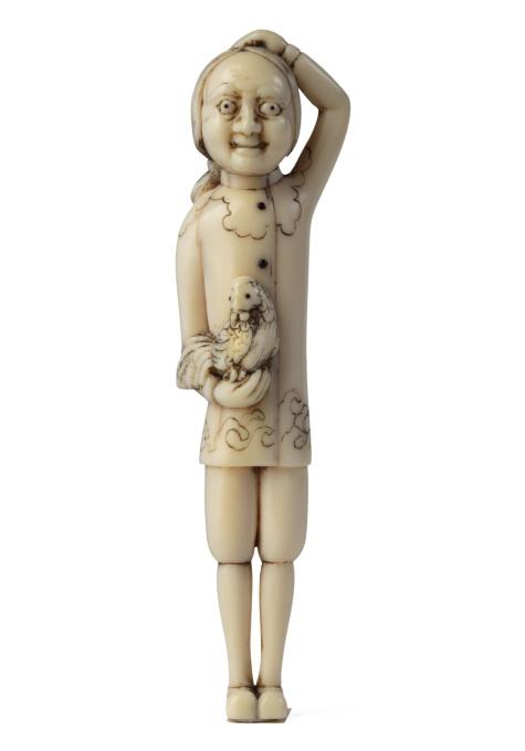 Dutchmen in miniature (Netsuke) by Unknown Artist