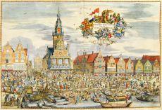 """De Waegh en Kaes-Marckt Van de Stadt Alckmaer"""