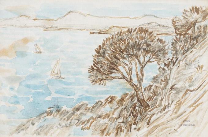 Pin au bord de la mer by Théo van Rysselberghe