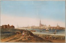 View on the city of Antwerp  by Unknown Artist