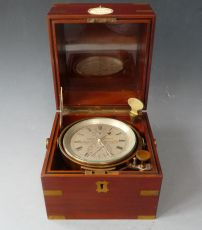 An English marine chronometer, 56 hours, no. 2894, by Thomas Bassnett, Liverpool circa 1890.
