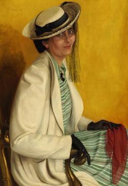 Portrait of Jane Wichers by Lodewijk Bruckman