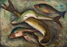 A carp, pike and bream by Sara Hense