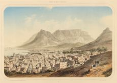RARE MID 19th- CENTURY VIEW OF CAPE TOWN (KAAPSTAD) by Unknown Artist