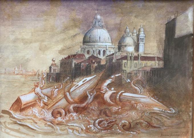 Studio per 'La rivolta dei tritoni lagunari' by Giovanni Tommasi Ferroni