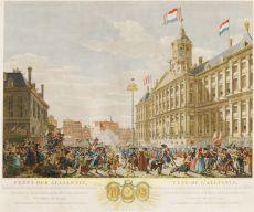 AMSTERDAM AAN HET BEGIN VAN DE FRANSE TIJD  by Vinkeles, Reinier