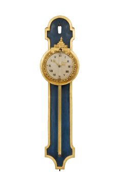 A South German Louis XVI polychrome and parcel gilt rack wall timepiece, circa 1780 by Unknown Artist