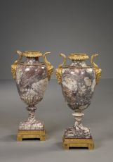 Pair of Marble Vases, Italy