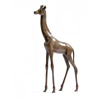 Elegant bronze giraffe by Unknown Artist