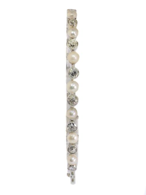 Vintage Art Deco diamond and pearl bracelet by Unknown Artist