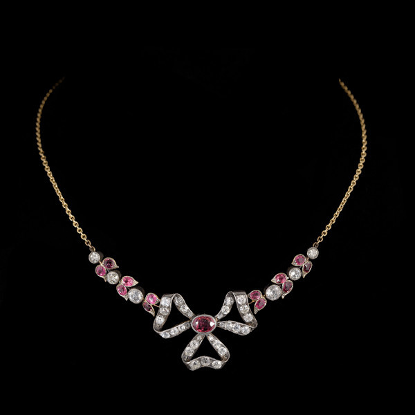 Bow necklace by Unknown Artist