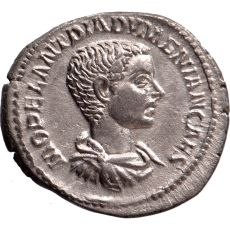 AR Denarius Diadumenian as caesar (217-218) by Unknown Artist