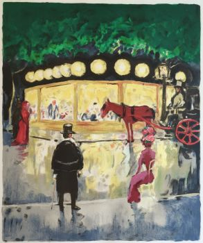 Le Carrousel (De Champs- Elysées). by Kees van Dongen