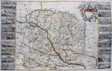 LARGE MAP OF HUNGARY      by Willdey, George (1676-1737)