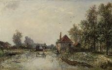 L'Écluse by Johan Barthold Jongkind