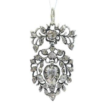 Antique Flemish diamond heart pendant circa 1700 by Unknown Artist