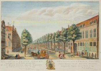 Den Haag, Prinsegracht  by  Hendrik Florisz. Scheurleer
