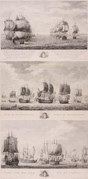 Battle of Doggerbank  by  Matthias de Sallieth after Frederik Reitz