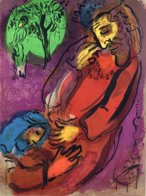 David and Absalon by Marc Chagall