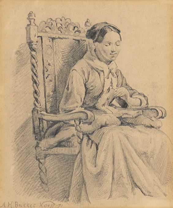 Woman in chair by Alexander Hugo Bakker Korff