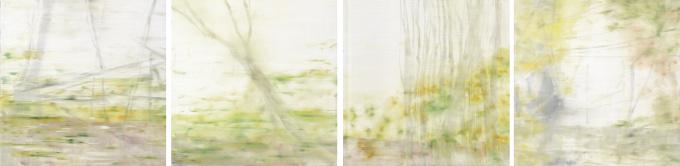 Landschap, 4-luik by Mirian Jacobs