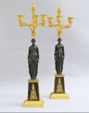 Pair Directoire candelabra, France by Unknown Artist
