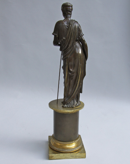 Bronze statue of a Classical Female Figure  by Unknown Artist