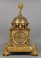 A Highly Important German Vertical Astronomical Table Clock