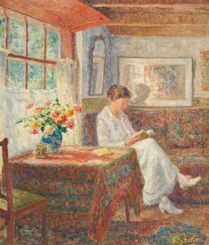 Femme Lisante by Evert Pieters