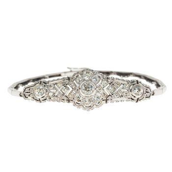 Elegant Edwardian / Belle Epoque bracelet with diamonds by Unknown Artist