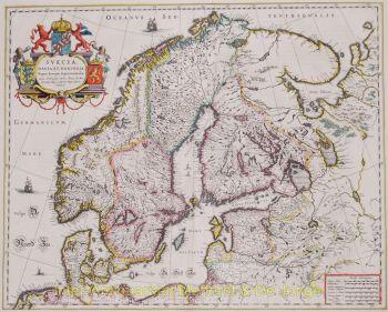 Scandinavia  by  Blaeu