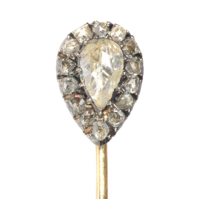 Victorian rose cut diamond tie pin by Unknown Artist